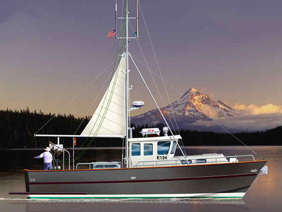 Boat plan Roberts Coastworker 25 fishing work boat
