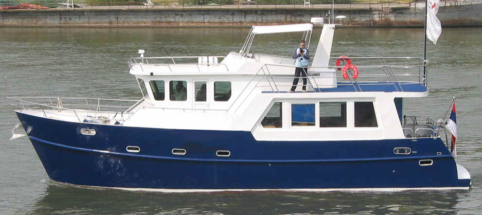 Trawler Yacht 48 Trawlers Pagemakers Live Aboard Bruce Roberts Steel Boat Kits Plans