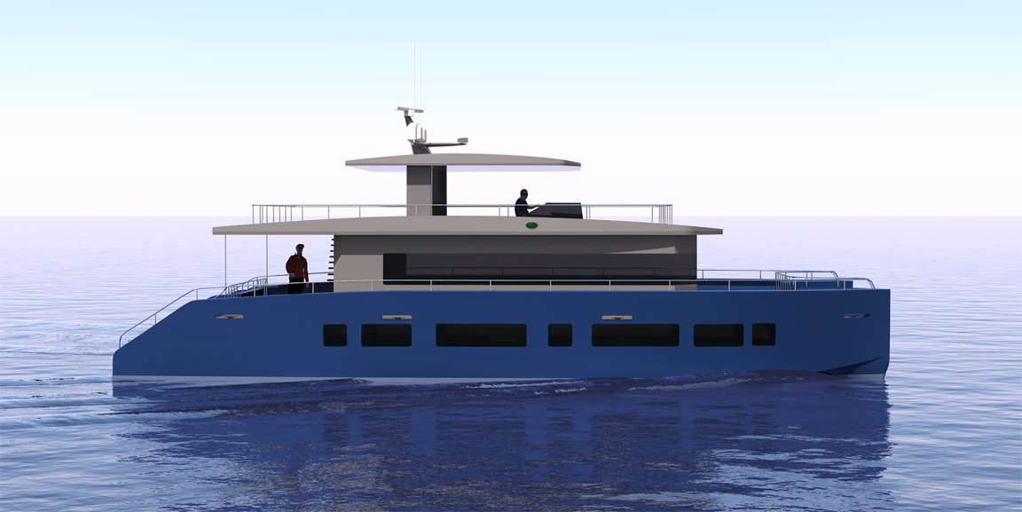 Aluminum Cat Boat Plans : Trawlers trawler yachts fishing boat plans
