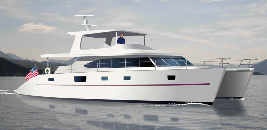 Catamaran boat plans power cat 60 aluminum sciox Image collections