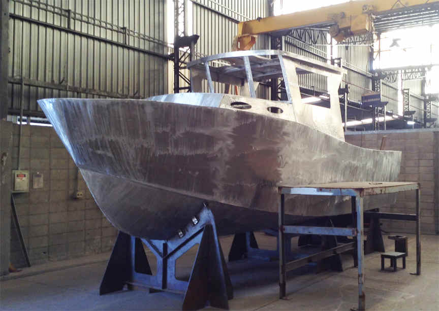 Aluminum Boat Construction : Bruce roberts steel boat plans building