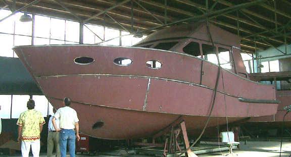 Sport fisherman kit assembly, steel boat plans, boat building, boatbuilding