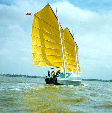 JUNK RIGS boat building plans kits sailboats steel aluminum