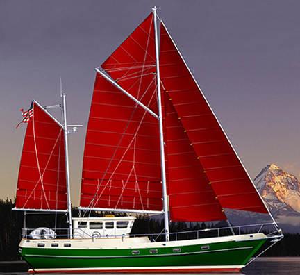 Spray 52 STEEL KITS, boat plans, boat building, boatbuilding, steel boat kits, boat kits