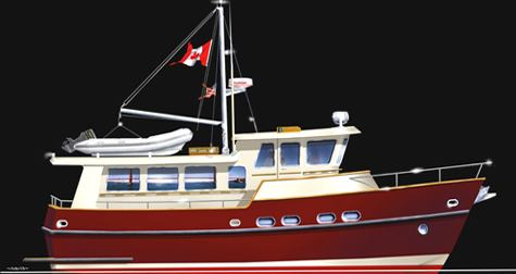 TRAWLER YACHT 41 passagemakers liveaboard Bruce Roberts steel boat kits and boat plans